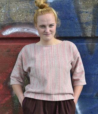 Cotton Rack Woolen sweater with red stripes