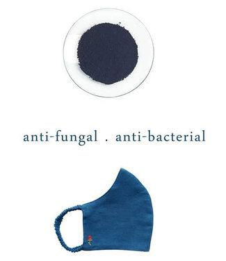 Rias Facemask natural Indigo dye