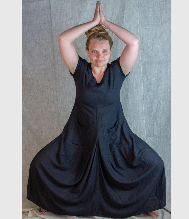Upasana Black dress wild silk