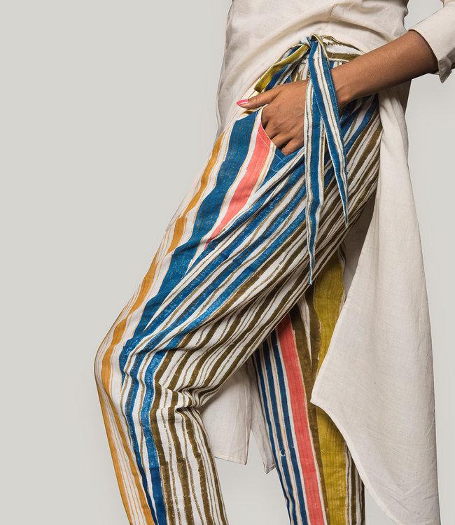 Rias Striped cotton pants