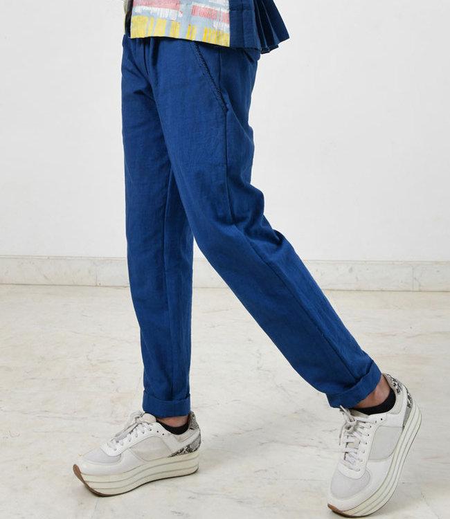 Rias Katoenen broek blauw