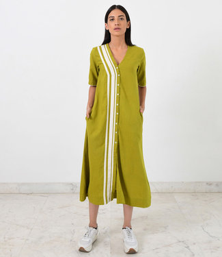 Rias Lime green cotton dress
