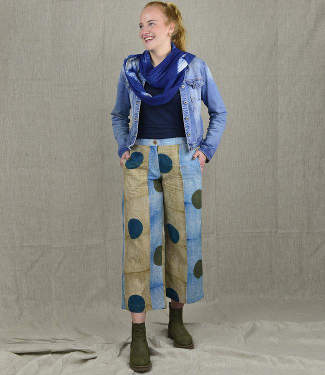 Rias Coton pants blue-green