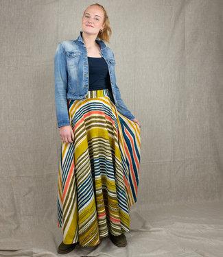 Rias Long cotton skirt striped