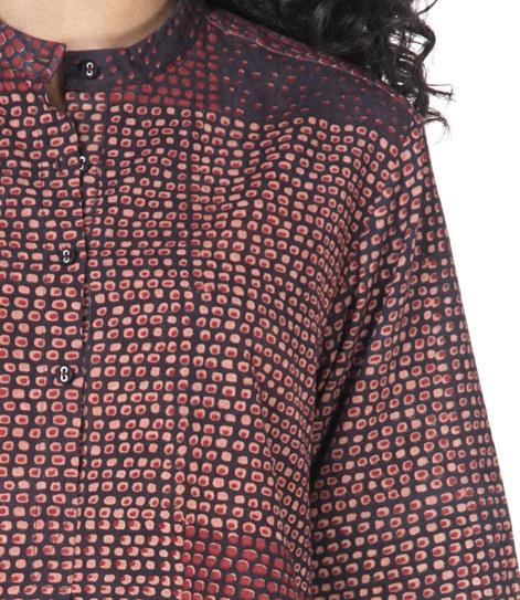Detail Ajrakh-blouse Soham Dave