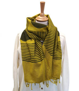 Rias Okerkleurige sjaal katoen