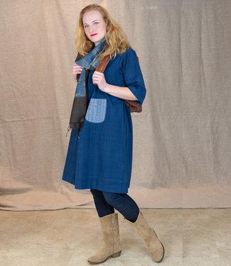 Upasana Tunic blue of black, organic cotton