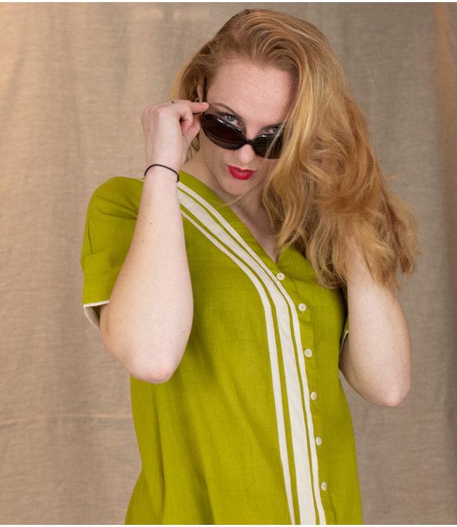 Rias Lime green cotton dress
