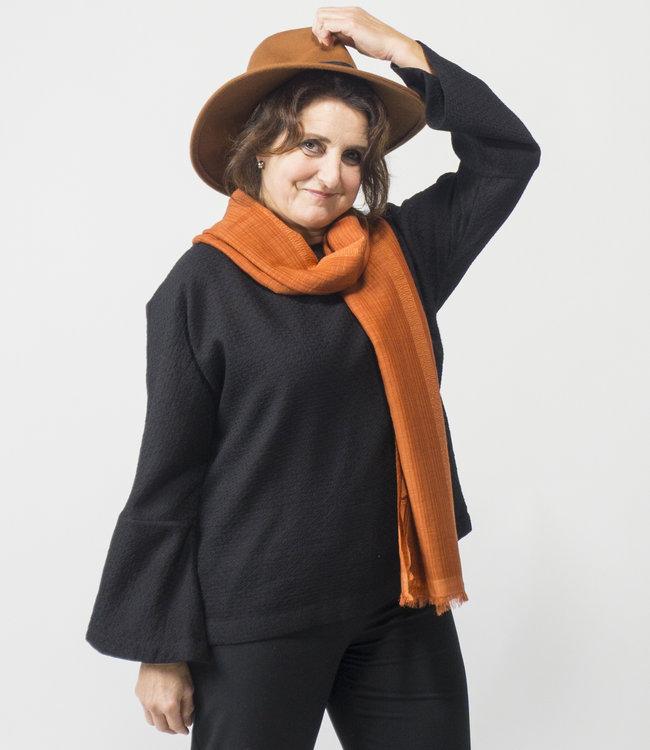 Akaaro Wollen trui, zwart
