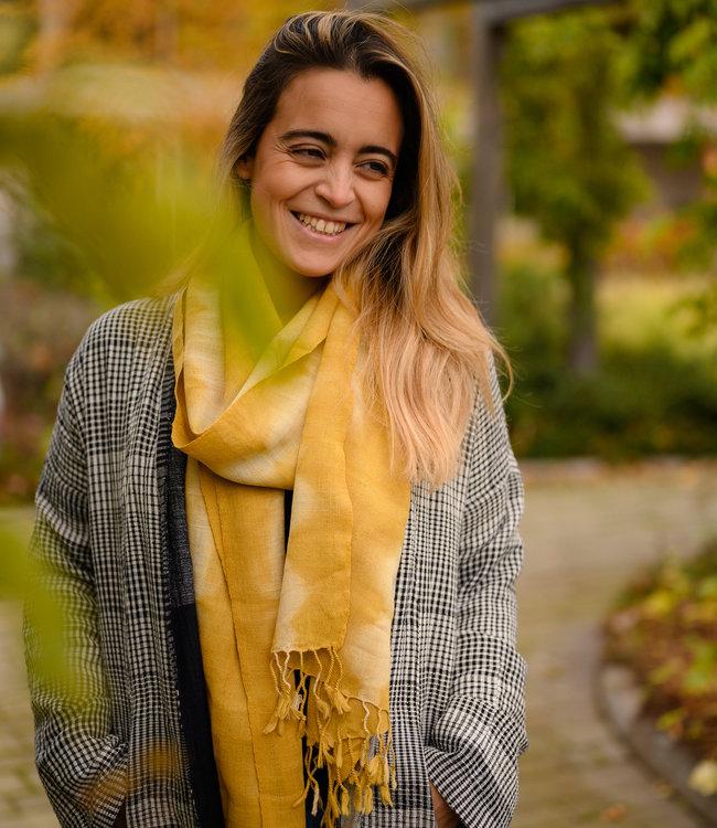 Avani Handwoven shawl merinowool yellow