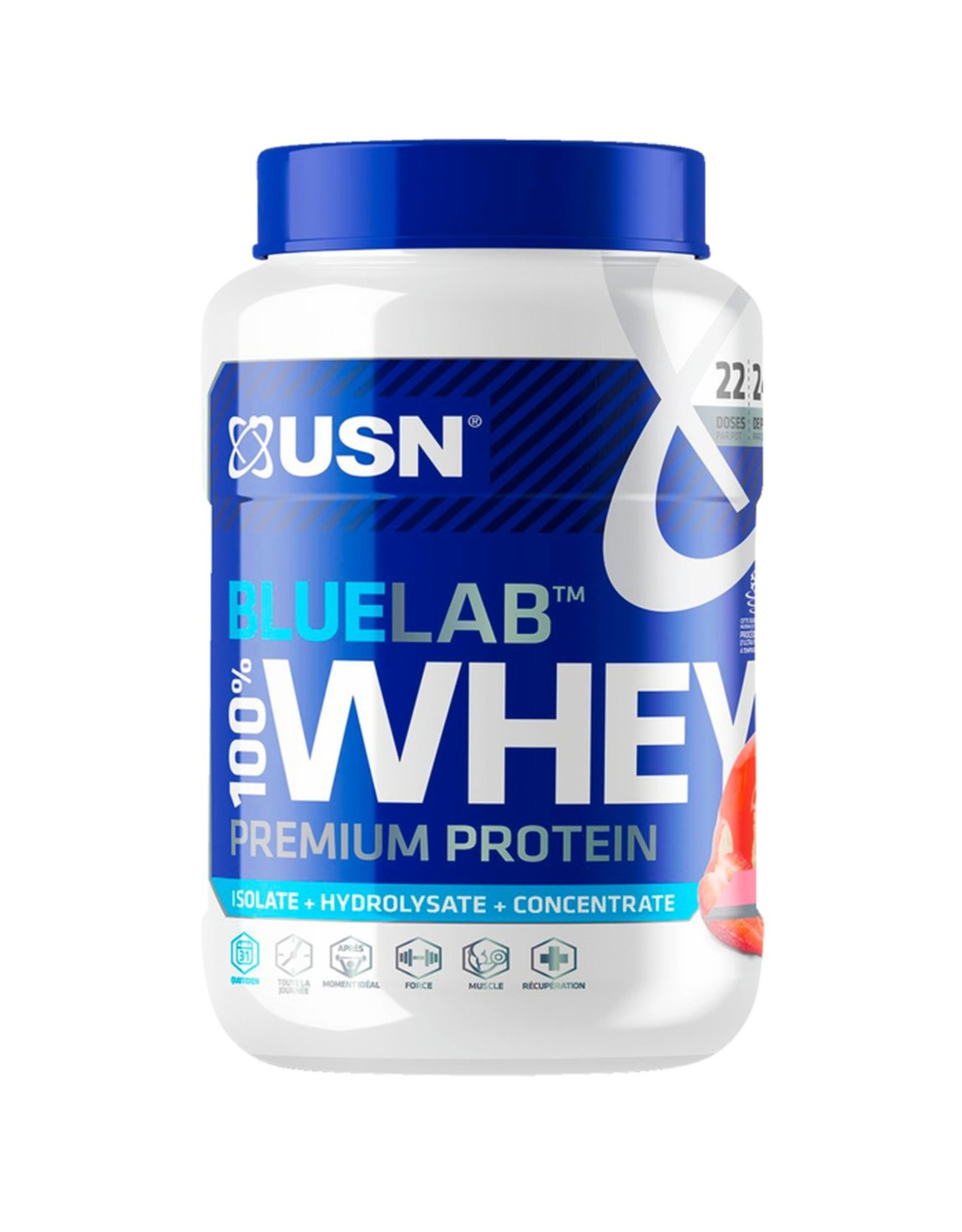 USN USN Blue Lab 100% Whey Ultra-Premium proteïne 750gr.