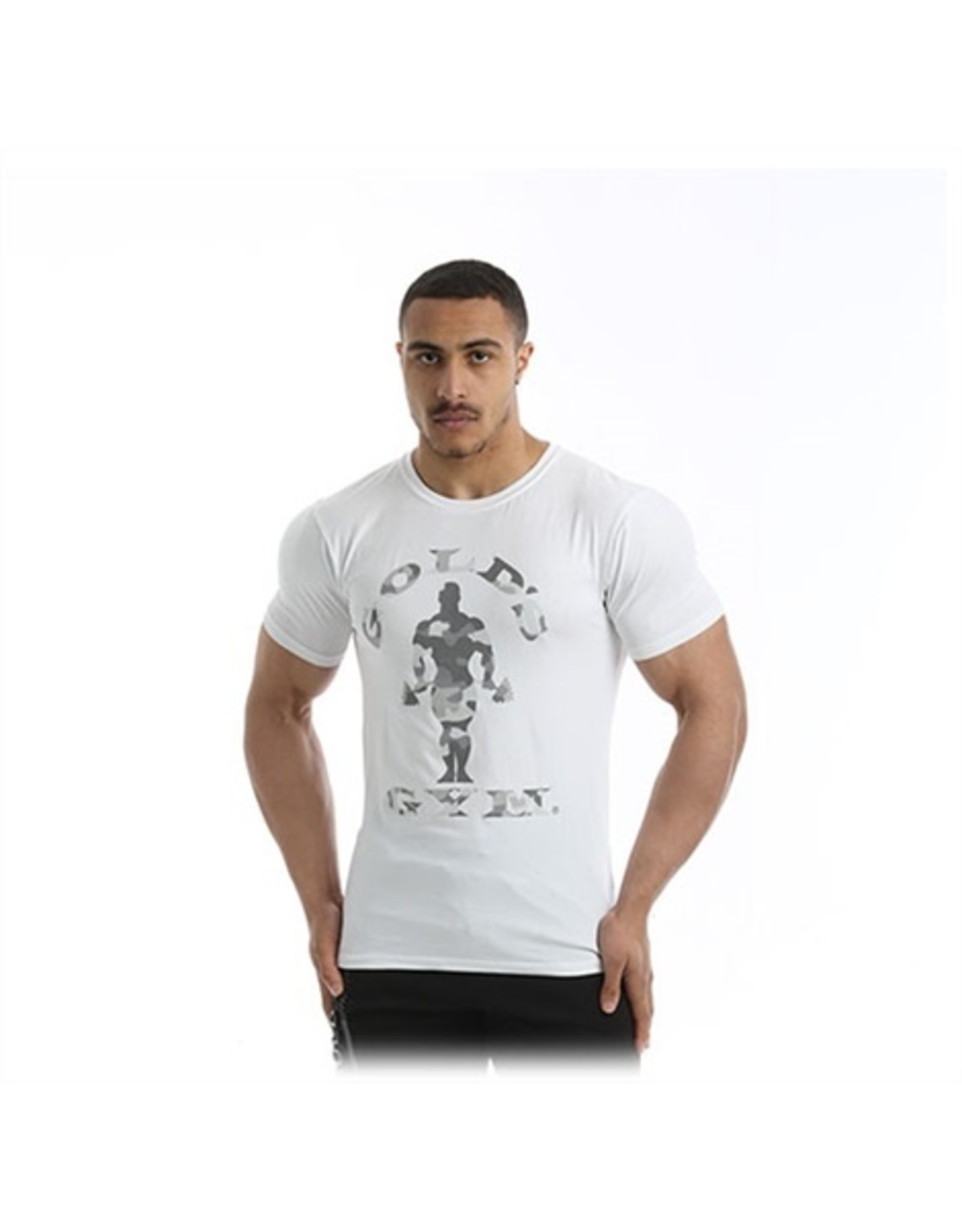 GOLD'S GYM GOLD'S GYM T-SHIRT MUSCLE JOE WHITE