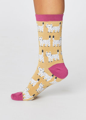 Thought Thought Cute Cat socks geel
