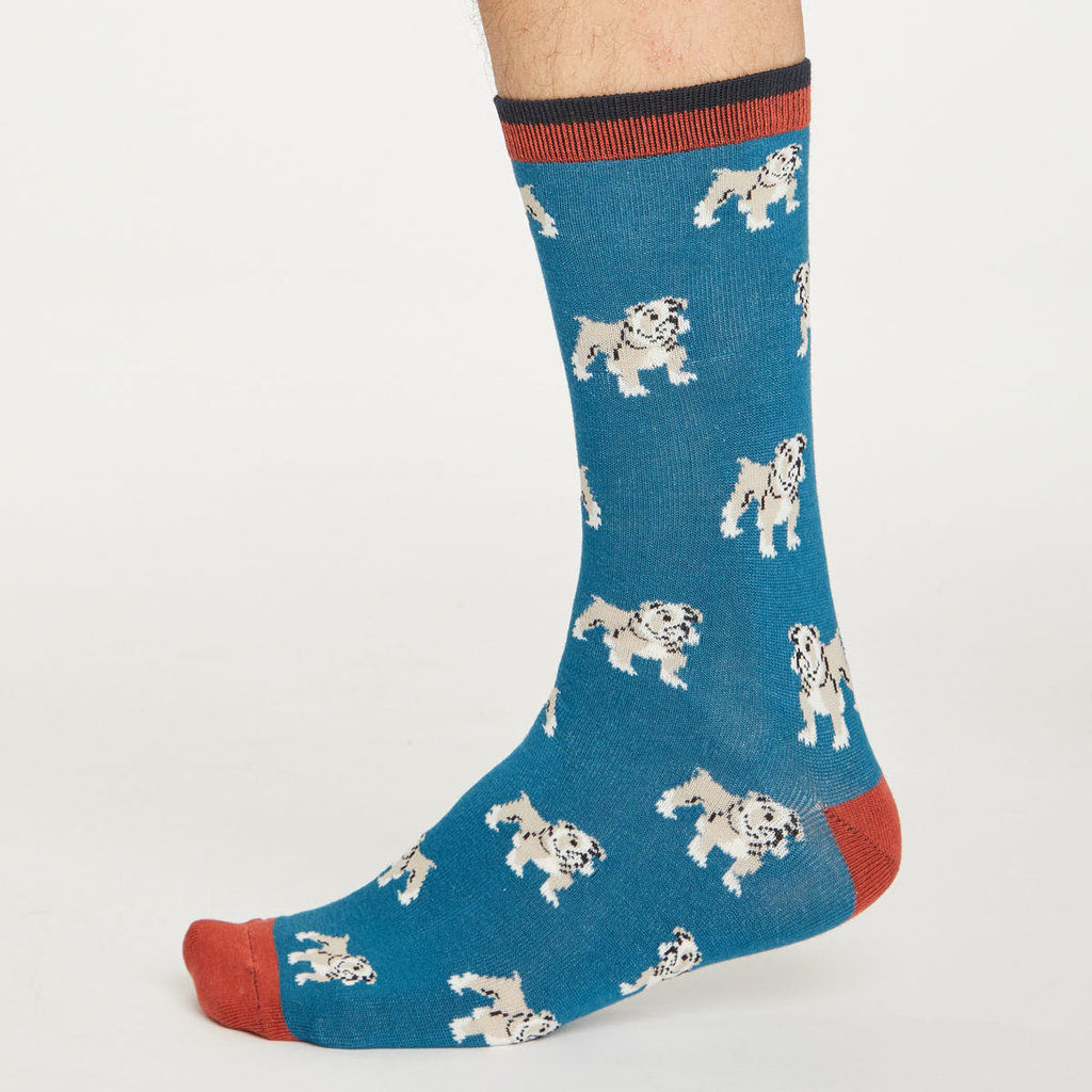 Thought Thought Hound socks ink blue