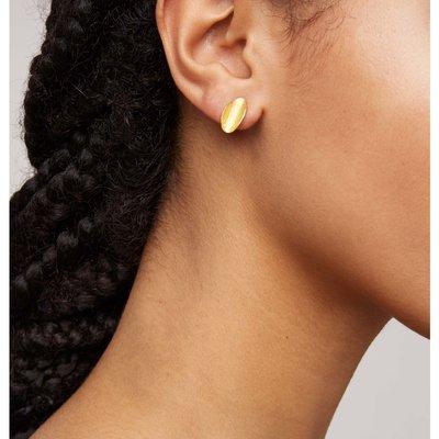 People Tree People Tree Curled leaf stud earrings