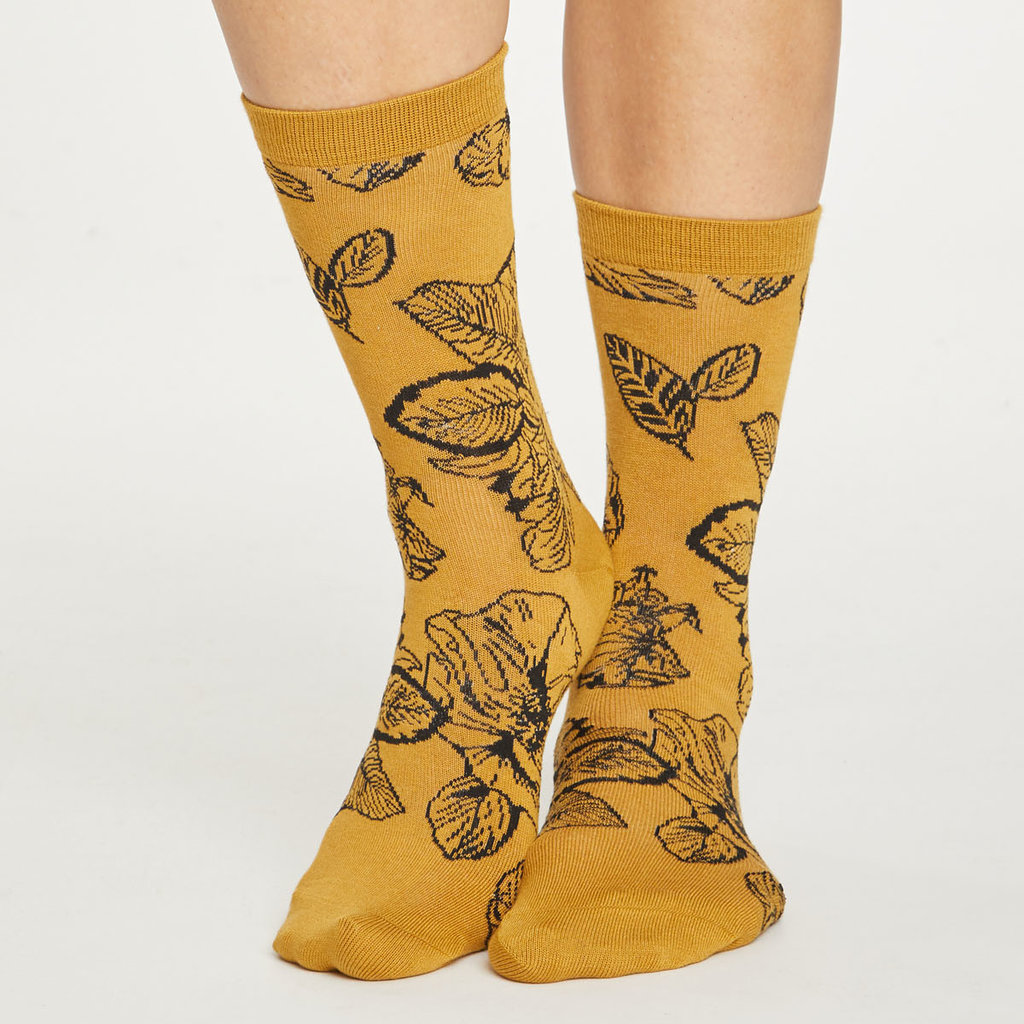 Thought Thought sketchy floral socks