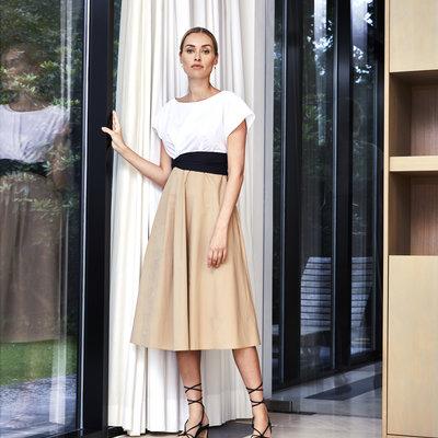 Lasalle LaSalle Faux belt dress