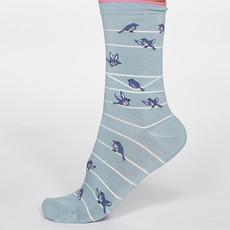 Thought Thought Vivian Bird Socks blauw