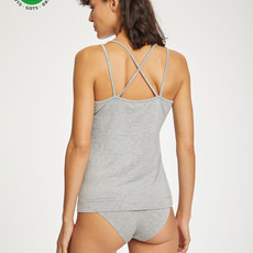 Thought Thought The essential organic cotton cami grey marle