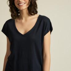 Lanius Lanius Aran Shirt mit v-aussschnit nightsky