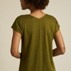 Lanius Lanius Aran Shirt mit v-ausschnit olive