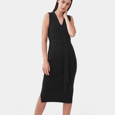 Mila.vert Mila.vert knitted v-neck dress black