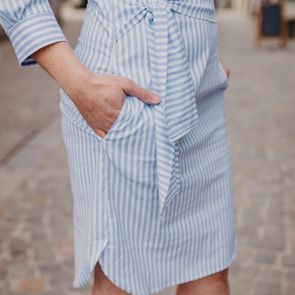 Lasalle Lasalle Faux wrap dress seaside