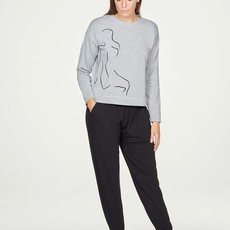 Thought Thought Life drawing sweater