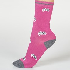 Thought Thought Lula cat socks violet pink
