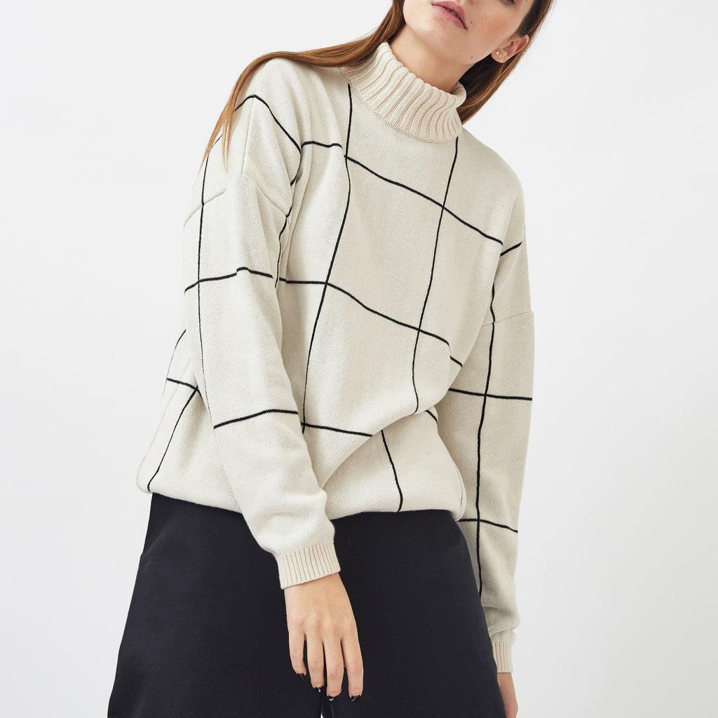 Mila.vert Mila.vert knitted checked pattern  pullover