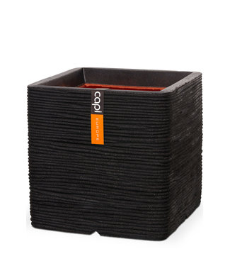 Capi Bloempot rib 30 x 30 x 30 cm zwart