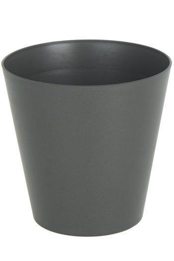 Plantenbak Porto mat Ø16 x 16 cm antraciet