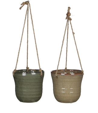 Mica Decorations Hangpot Stef grijs/taupe