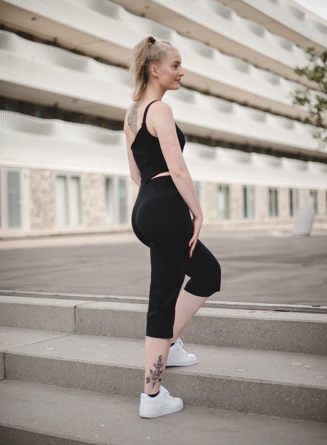 Mia zwarte cutout & tapered jumpsuit