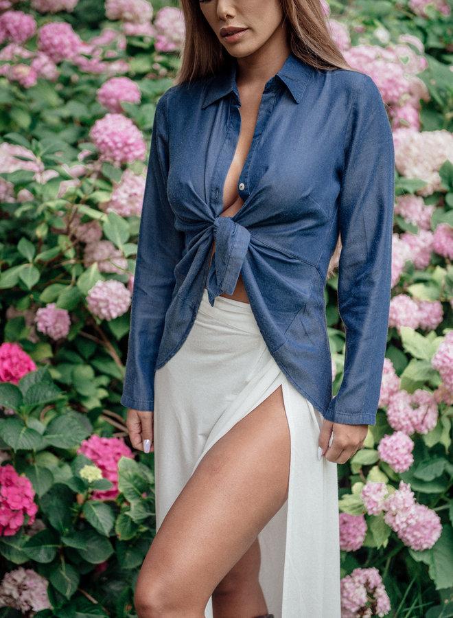 ✭ Ga als een femme fatale met deze multifunctionele witte rok. Een wikkelrok die geschikt is om jou strand look te laten zien tijdens de strandvakantie, dagelijkse slijtage of voor elke casual gelegenheid. ✭
