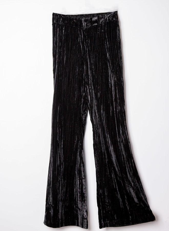 Zwarte Fluwelen Pantalon