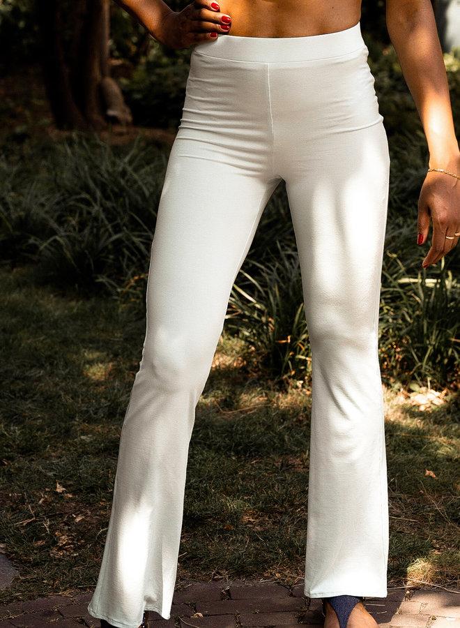 Basic in mint flared Leg Trousers