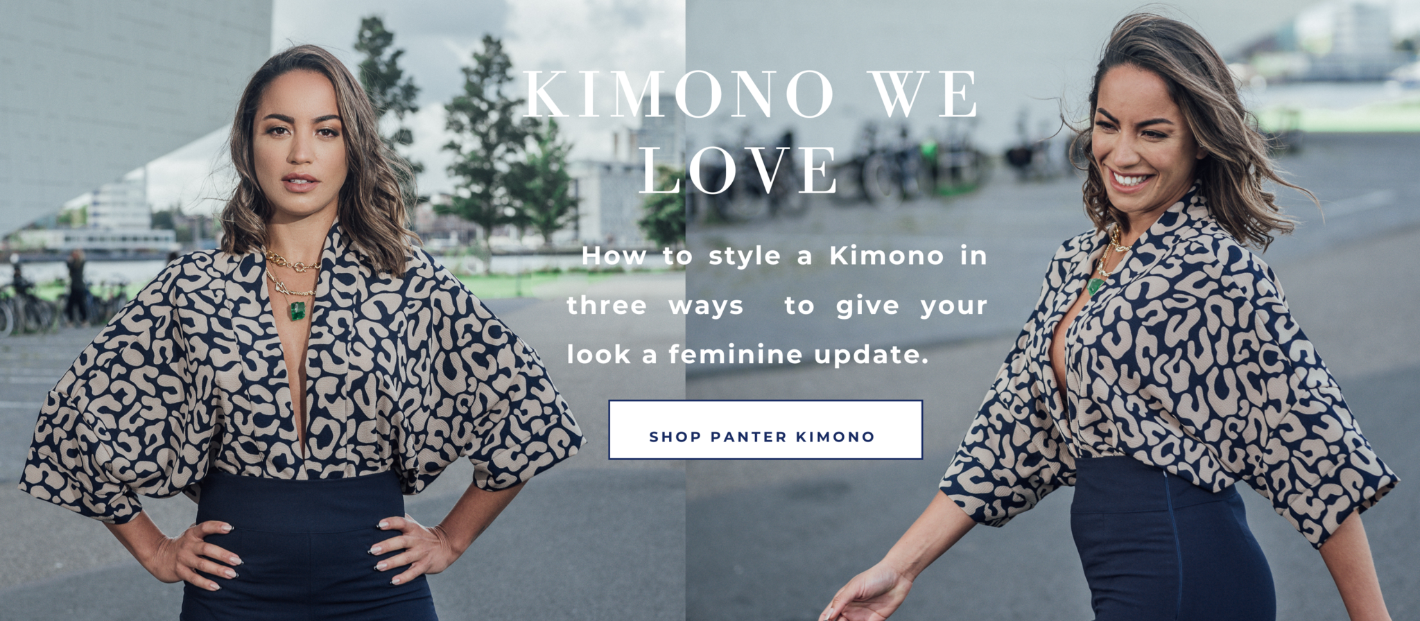 How to style a Kimono in three ways  to give your look a feminine update.