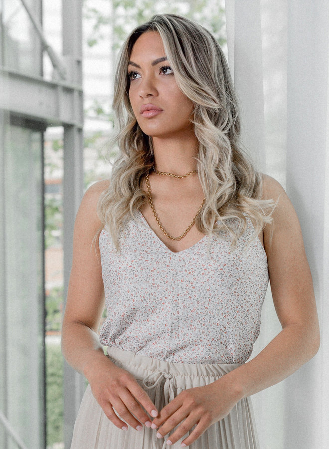 Disty floral  spaghetti top | Nadia Roberto Collection