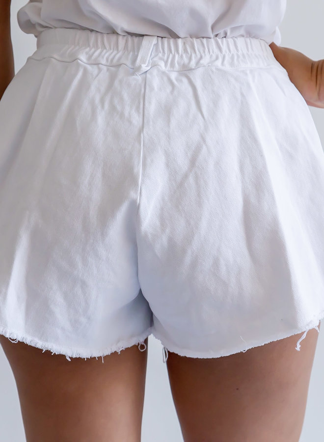 Mijn favorite wijde witte korte broek