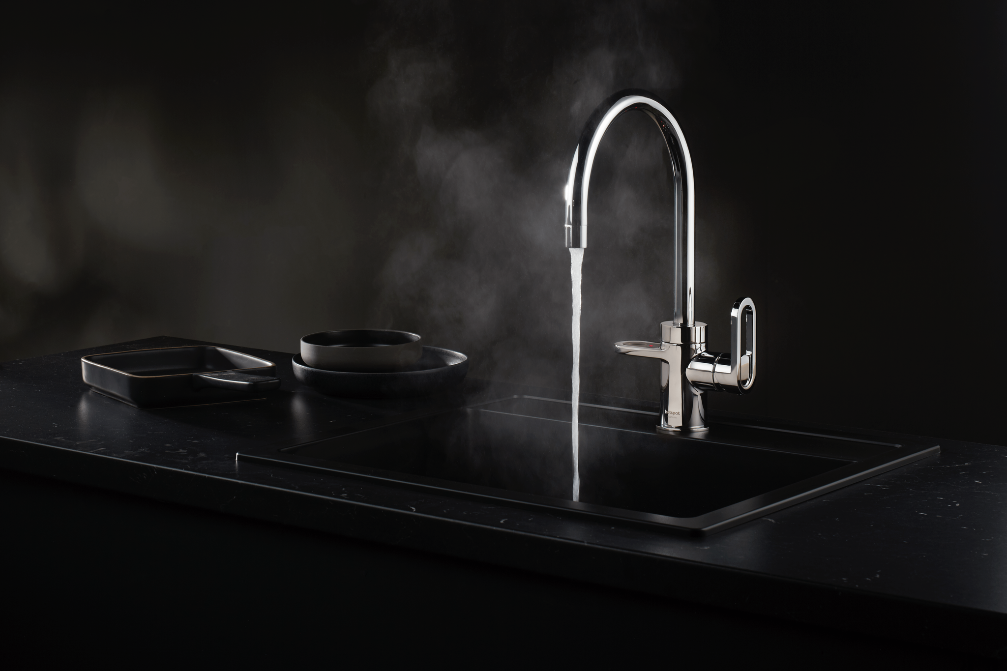 HotSpot Titanium Alessio Stainless Steel Effect Tap