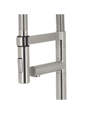 HotSpot Titanium Flex XL Stainless Steel Effect Tap