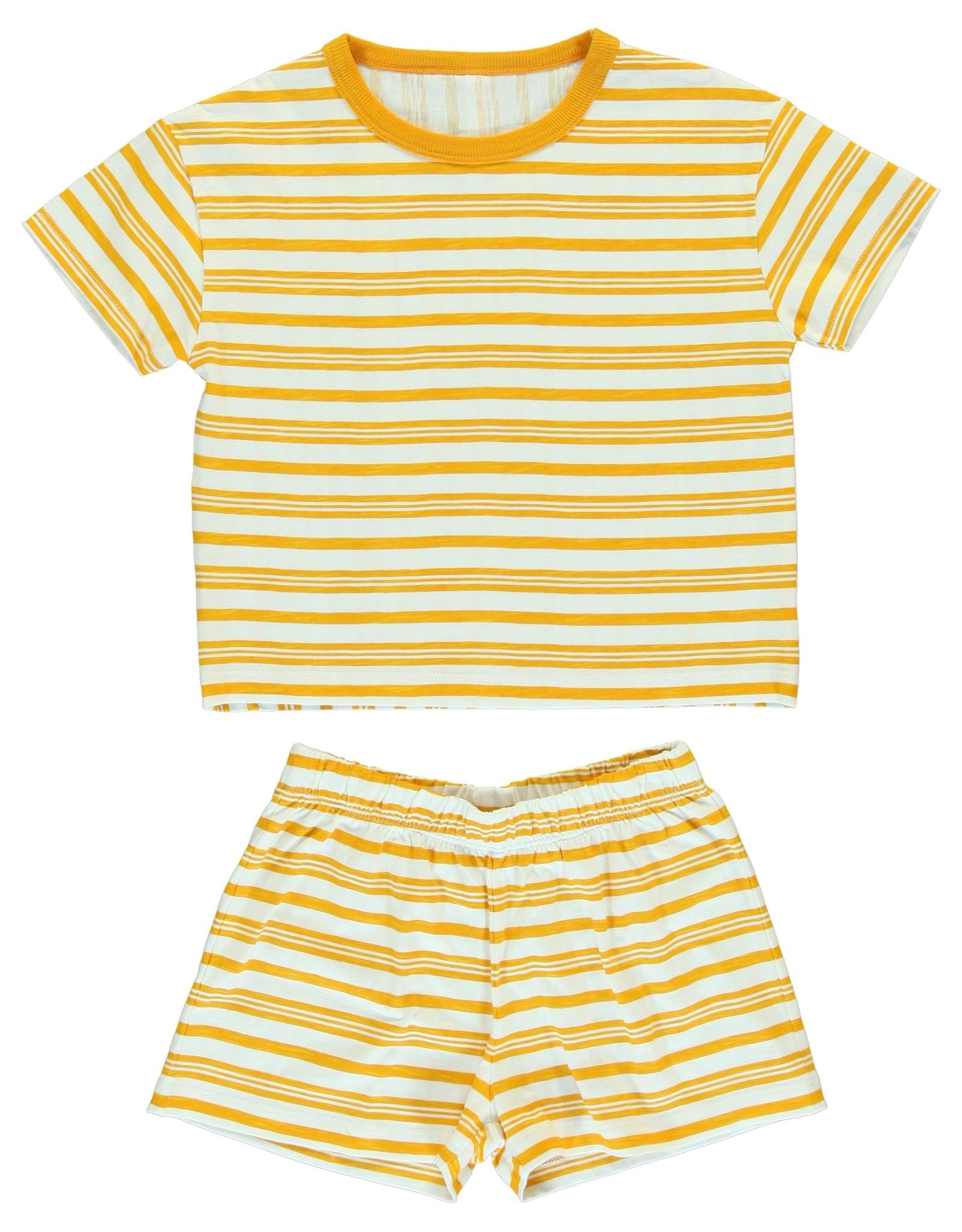 Dorélit Chaldene & Cressida | Pajama Set Jersey | Yellow