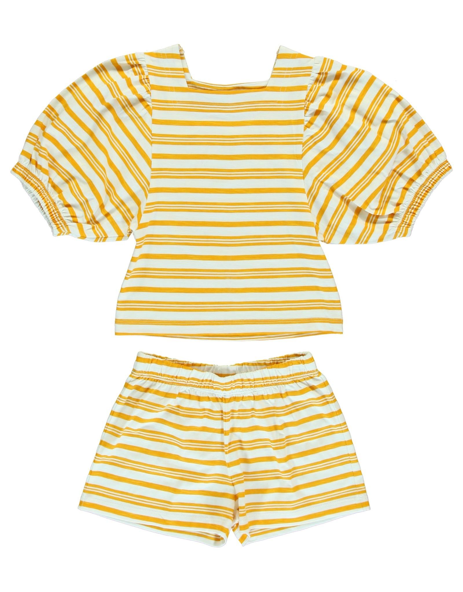 Dorélit Chaldene & Caroli   Pajama Set Jersey   Yellow