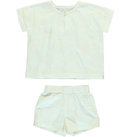 Dorélit Calypso & Cupido | Pajama Set Woven | Offwhite
