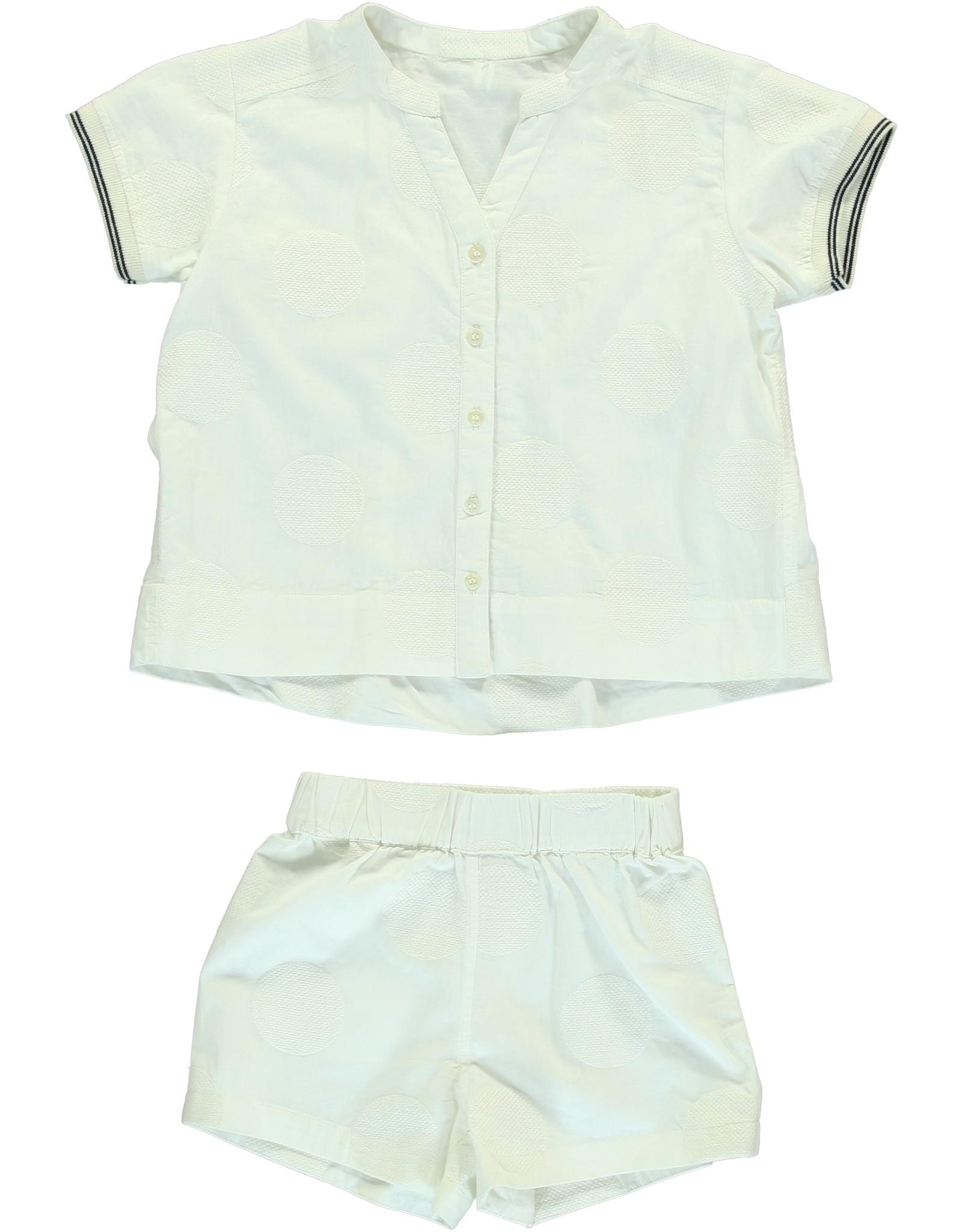 Dorélit Canopus & Cupido   Pajama Set Woven   Offwhite