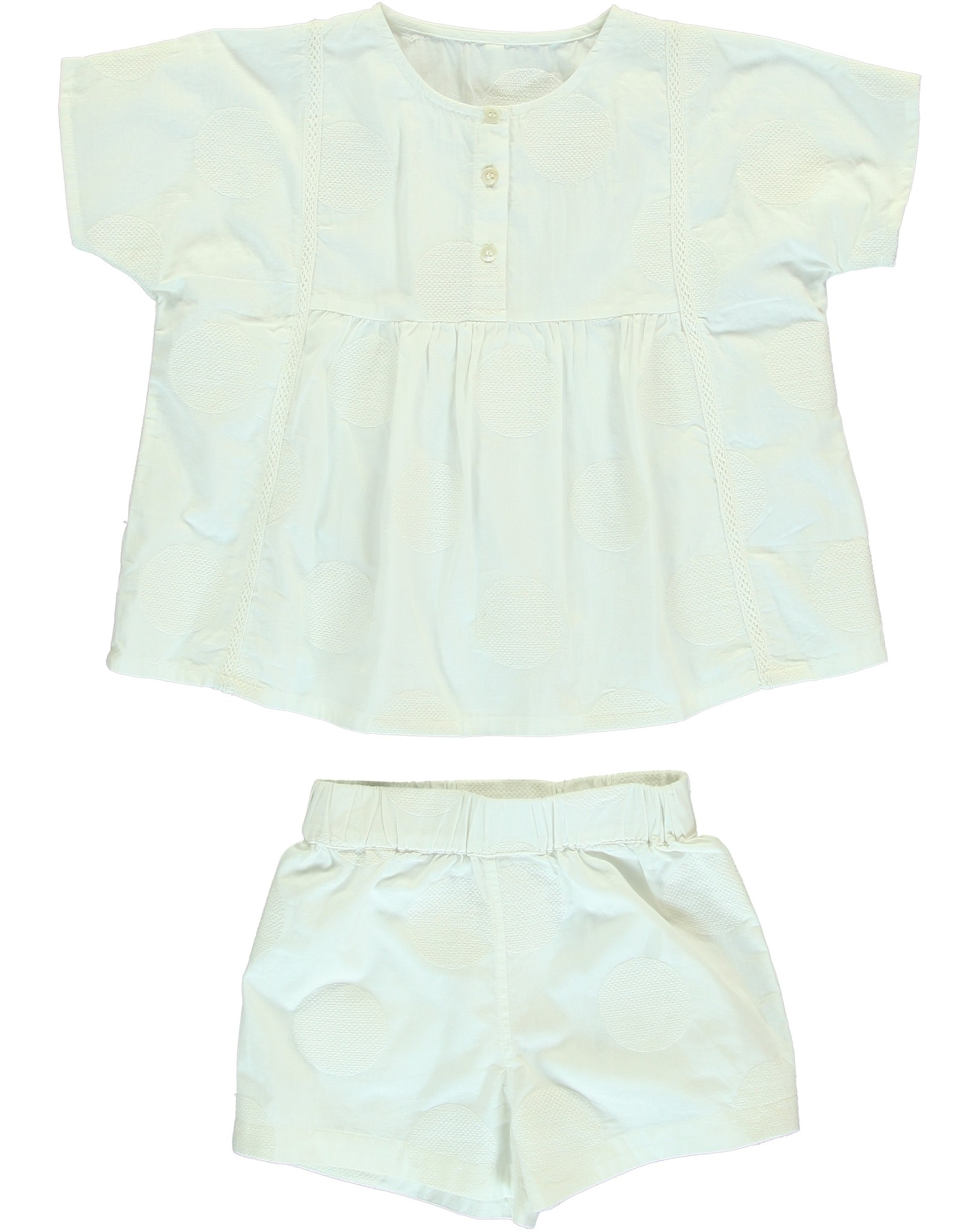 Dorélit Cor & Cupido | Pajama Set Woven | Offwhite