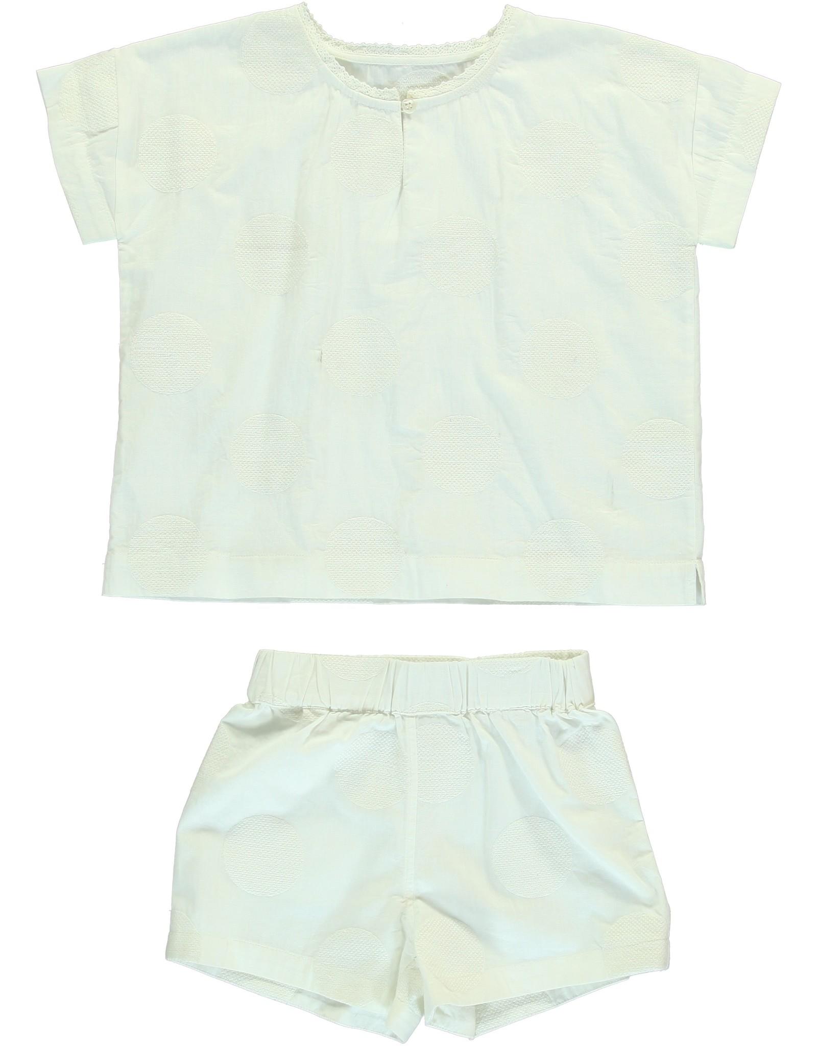 Dorélit Calypso & Cupido   Pajama Set Woven   Offwhite