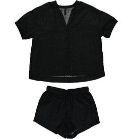 Dorélit Canopus & Cupido | Pajama Set Woven | Black