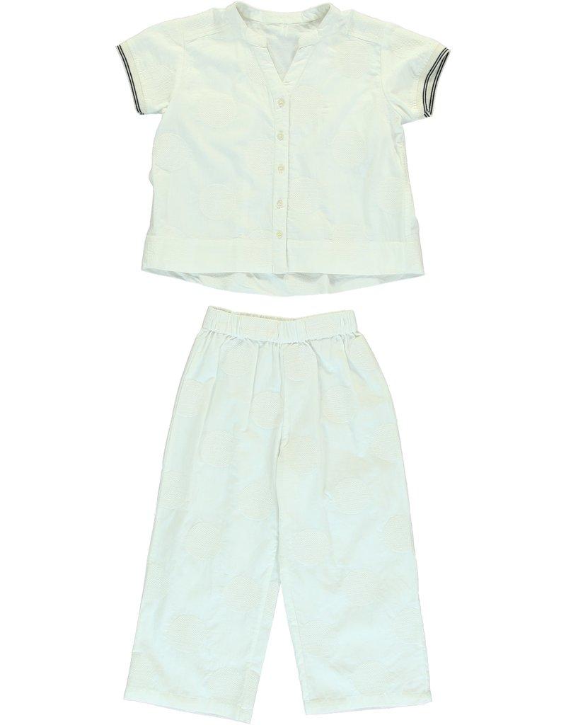 Dorélit Canopus & Alkes | Pajama Set Woven | Offwhite
